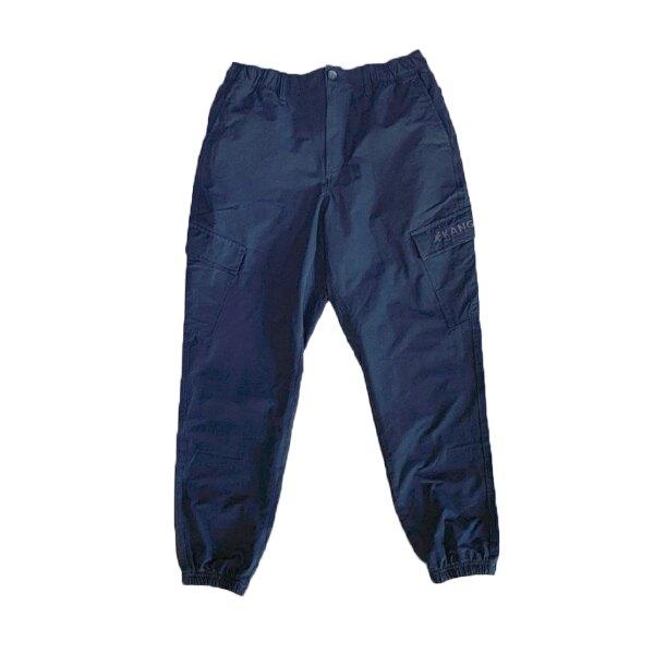 【滿額↘️領券折$120】KANGOL 英國袋鼠 長褲 縮口褲 工裝 大口袋 輕薄 深藍色 男生【6121154080】