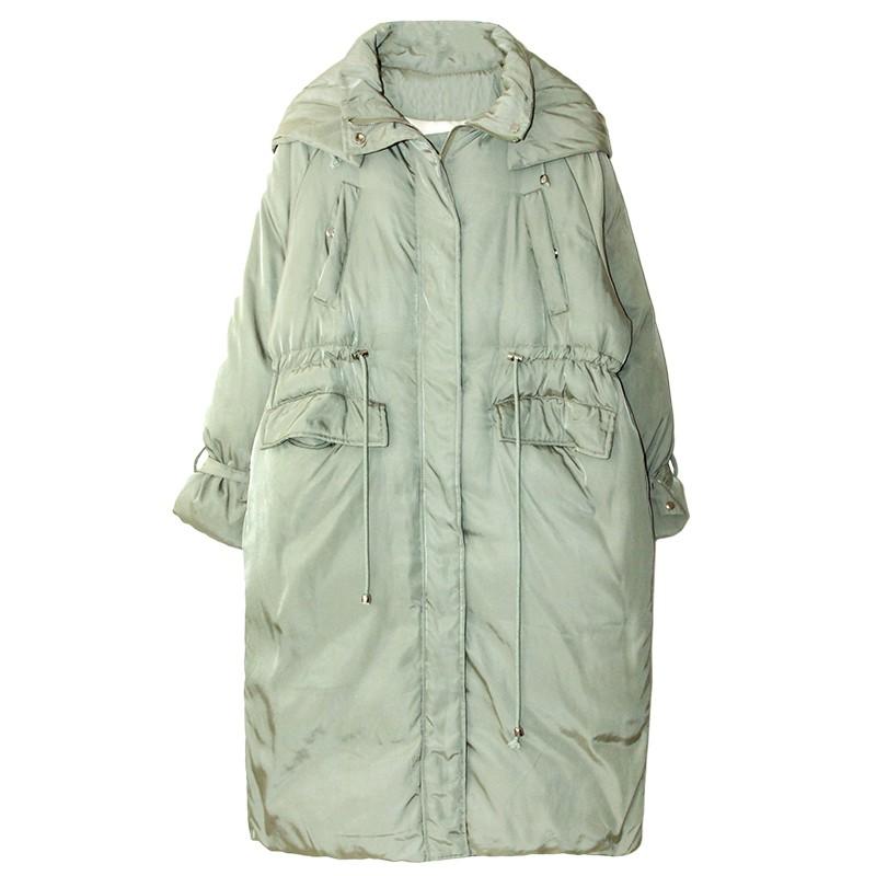 女裝多口袋羽絨服時尚冬季新款寬松連帽中長款面包棉服外套女