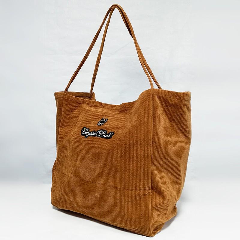 CRYSTAL BALL狗頭包 ( Corduroy BIG bag時尚休閒袋 )