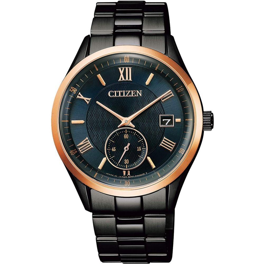 CITIZEN 星辰 GENT'S光動能系列藍寶石男錶-黑x金(BV1124-90L) 廠商直送 現貨