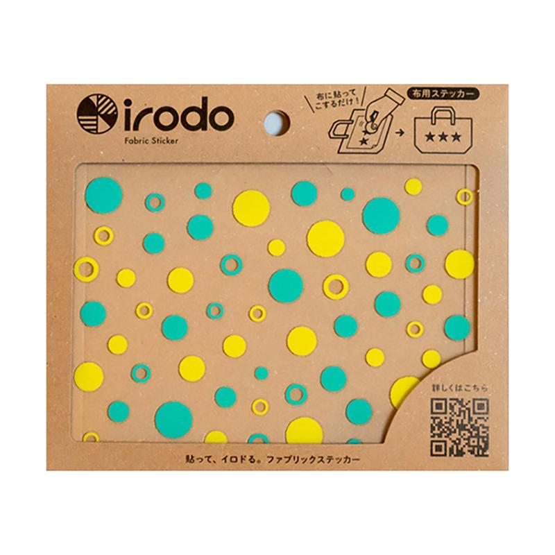 【Irodo】免熨手製轉印貼/泡泡(黃綠)
