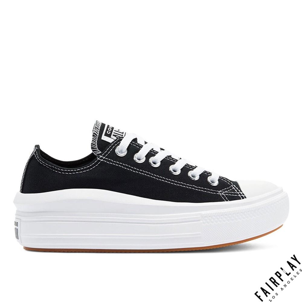 Converse All Star Move 黑 女鞋 低筒 增高 厚底 厚底鞋 帆布鞋 運動鞋 休閒鞋 570256C
