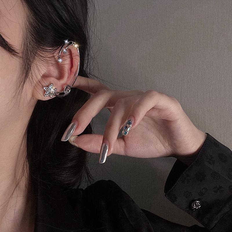 韓版五角星設計感耳環2020年新款潮個性不對稱耳飾女氣質網紅耳釘A950