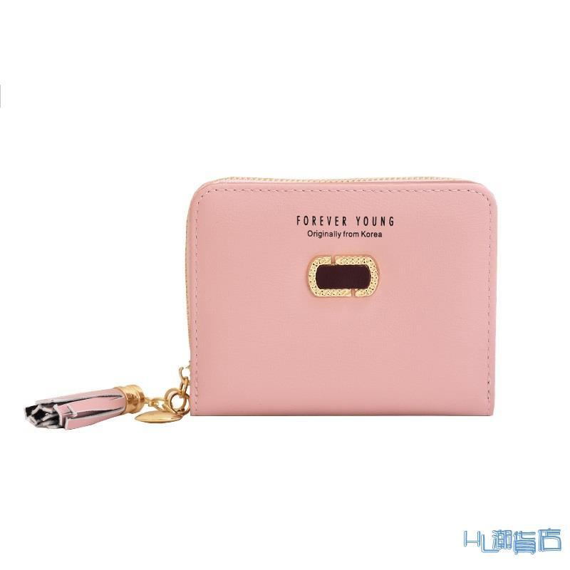 多位卡包/小錢包 奔蕾錢包女短款學生韓版可愛折疊2021新款小清新卡包錢包一體包女『HL404』