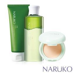 NARUKO牛爾 茶樹 速淨搖搖卸妝水+淨荳敷面潔膚泥+輕透吸油蜜粉餅