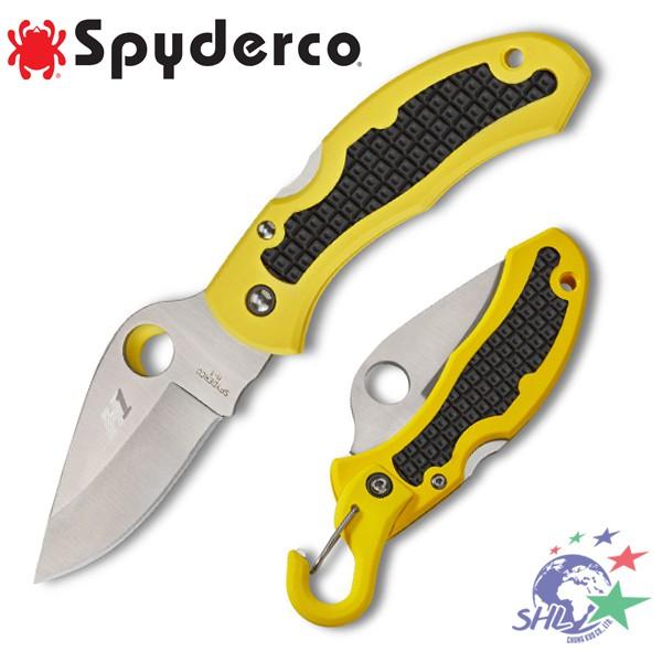 Spyderco SANP-IT 黃柄潛水折刀 / 極度抗鏽H-1鋼 - C26PYL【詮國】