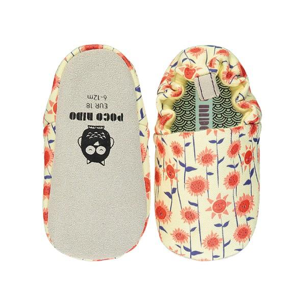 英國POCONIDO 手工鞋|嬰兒鞋|學步鞋-盛開向日葵 (6~24M)【麗兒采家】