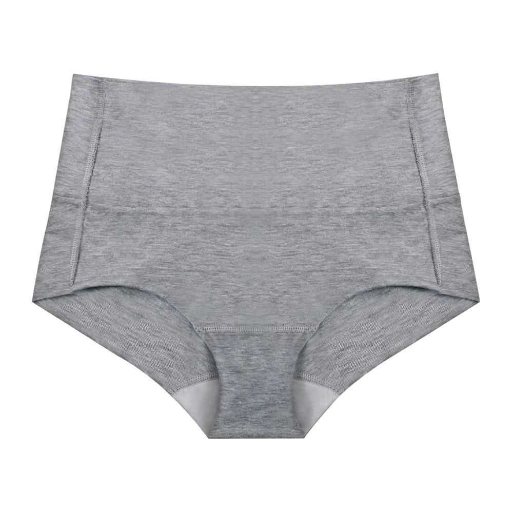 吸濕竹炭高腰小褲-灰色