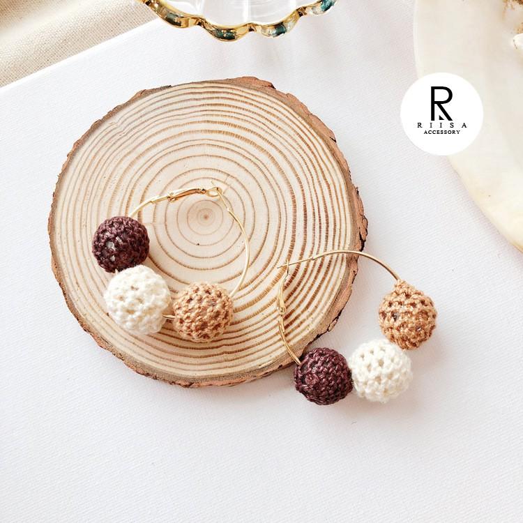 RIISA梨衣莎微涼咖啡經典焦糖設計耳環-29