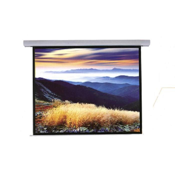晶美 EA系列 EA72x96 120吋 4:3電動布幕 鋁合金外殼白色時尚 公司貨享保固《名展影音》