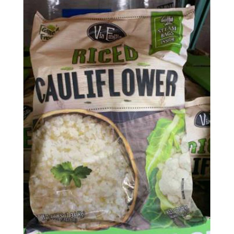 VIA EMILIA RICED CAULIFI OWER 冷凍米粒狀花椰菜1.36KG 需低溫宅配  C126802