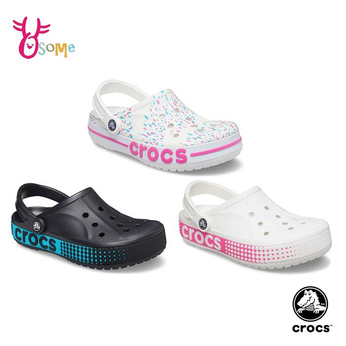 Crocs卡駱馳洞洞鞋 女鞋 潑墨款 智必星 園丁鞋 防水布希鞋 一鞋兩穿 涼拖鞋 室外拖鞋 A1770