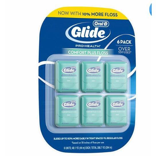 Glide 清潔舒適牙線 - 薄荷口味 44 公尺 6 入 W2203155