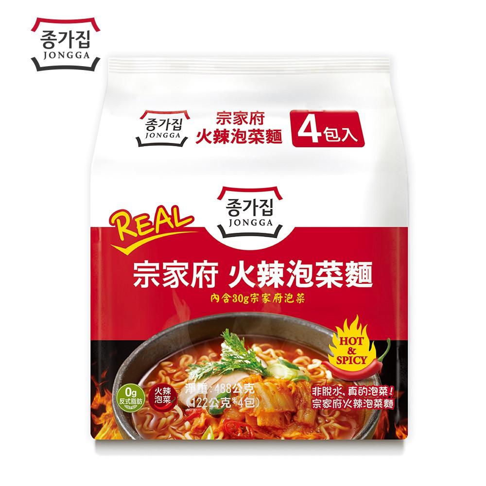宗家府火辣泡菜麵4入/袋