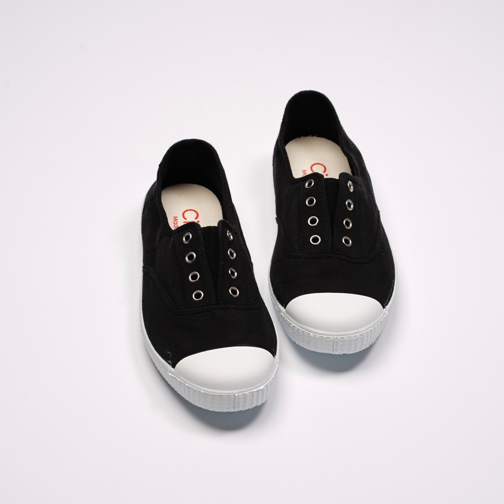 CIENTA 西班牙國民帆布鞋 70997 01 黑色 經典布料 大人