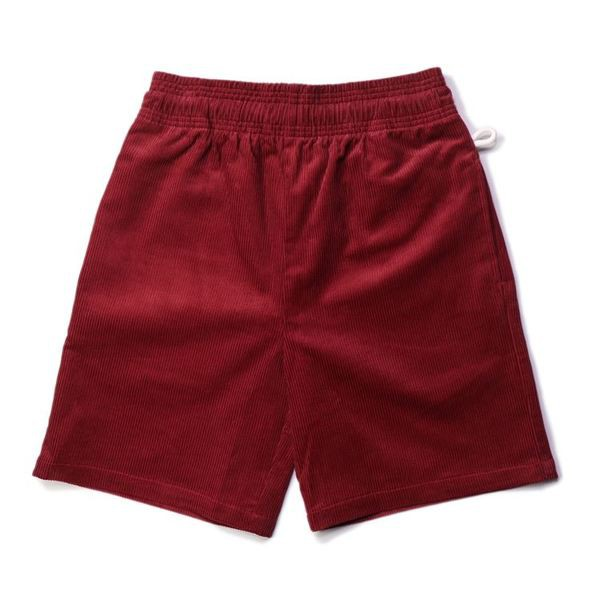 COOKMAN Chef Pants Short「Corduroy」Wine Red 燈心絨短褲