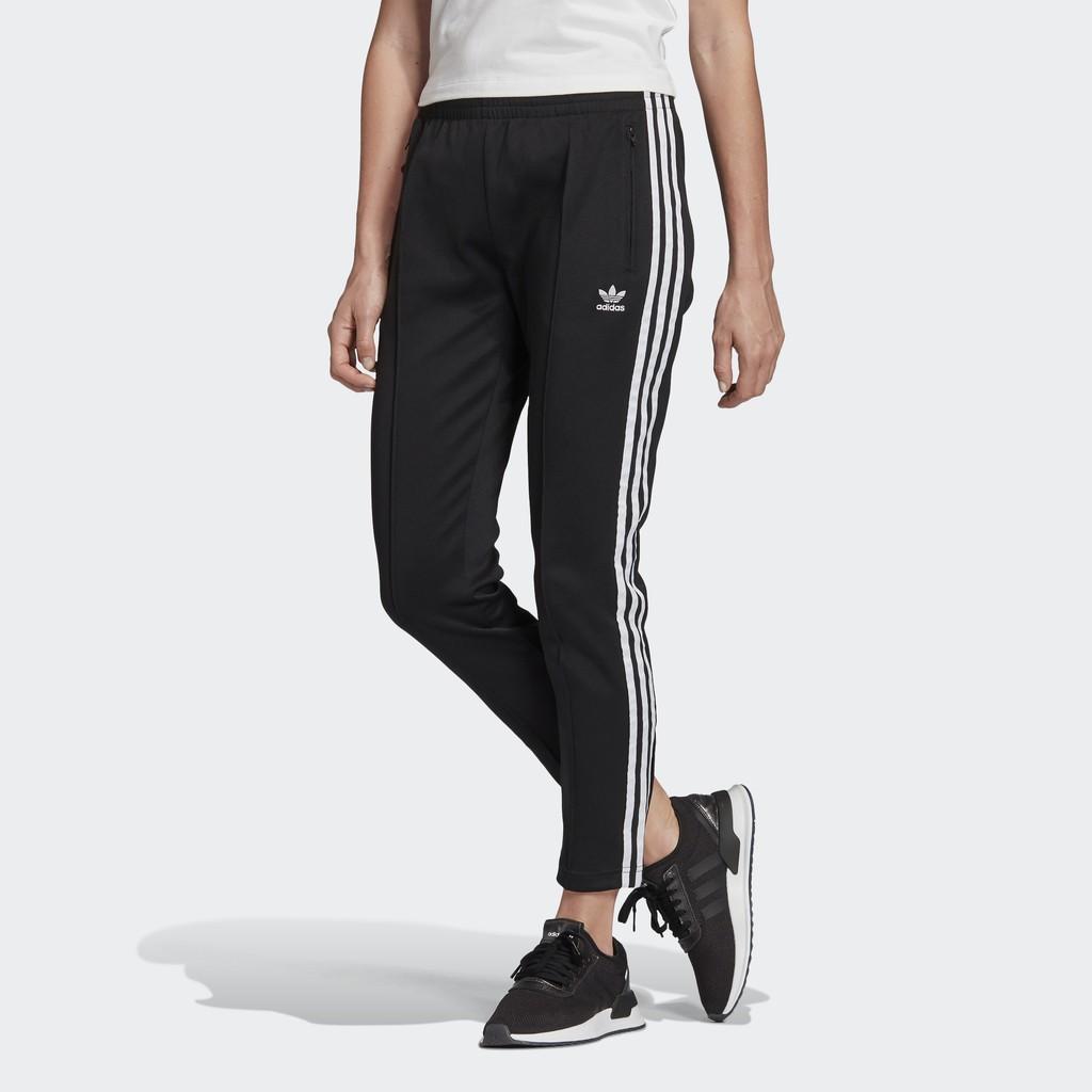 Adidas SST TRACKSUIT BOTTOMS 女裝 長褲 休閒 棉質 黑 【運動世界】FM3323