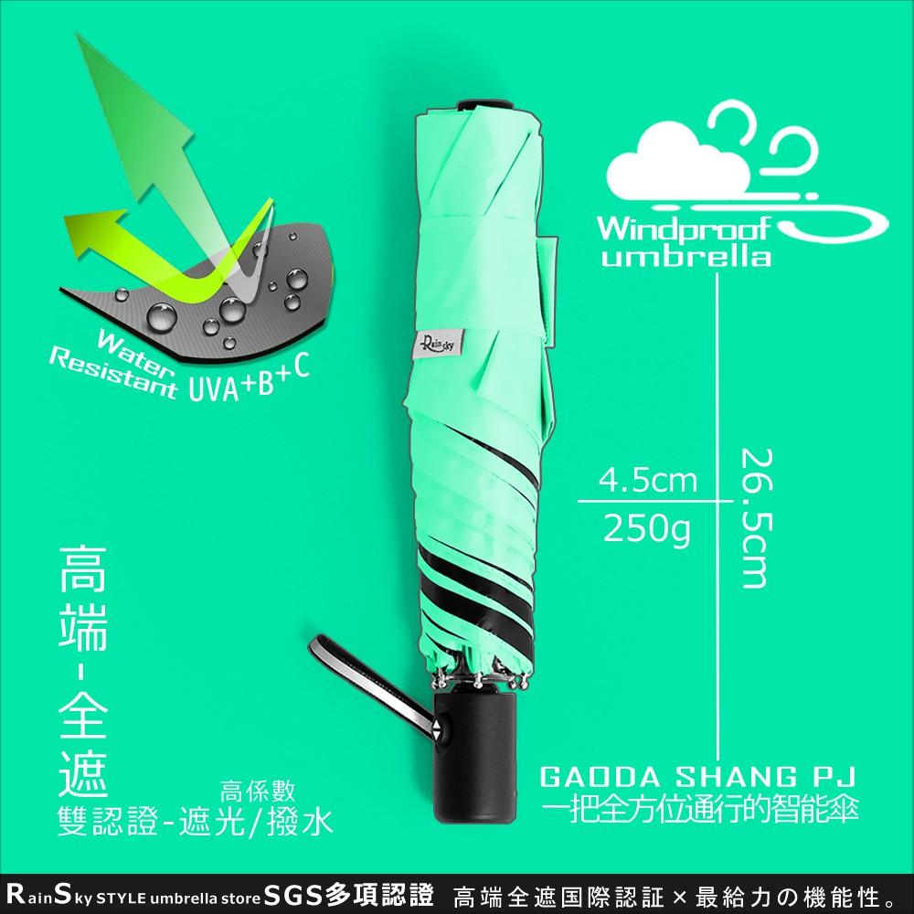【遮光/撥水】高端-全遮_91cm迷你自動傘 /傘雨傘黑膠傘洋傘遮陽傘折疊傘抗UV傘防風傘非長傘大傘反向傘