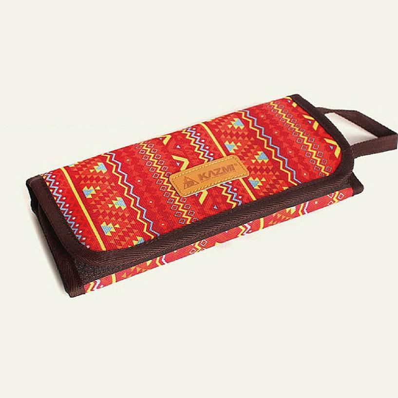 KAZMI 不鏽鋼餐具組附收納袋-紅色 【登山屋】