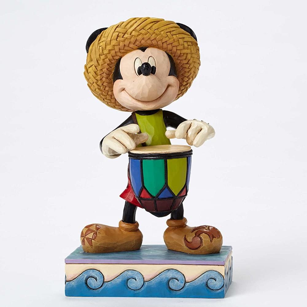 Enesco Disney 迪士尼 加勒比風打鼓米奇塑像