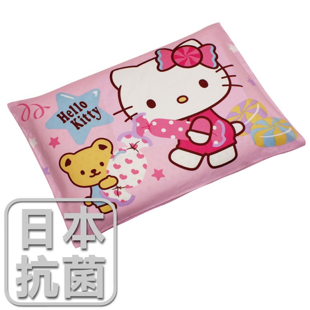 鴻宇 兒童乳膠枕 日本抗菌Hello Kitty我的甜蜜夥伴-站姿粉 美國棉授權品牌 台灣製
