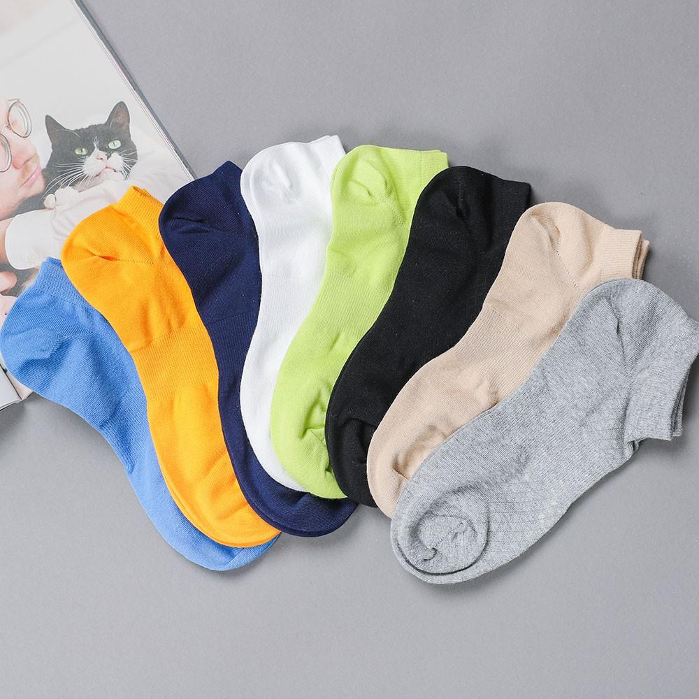 襪子 高針數網眼純色 男短襪