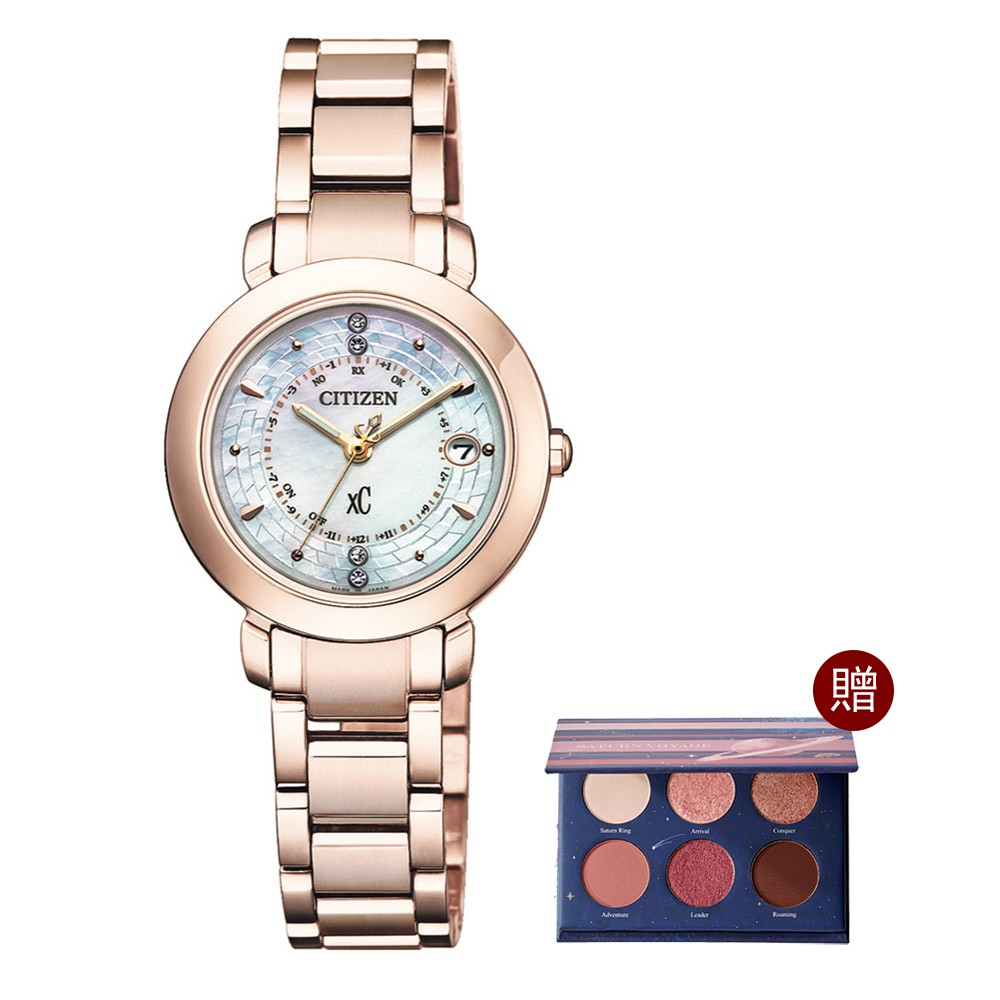 CITIZEN 星辰XC限量女神電波鈦對時手錶27mm(ES9444-50X)27mm公司貨附贈專屬錶盒