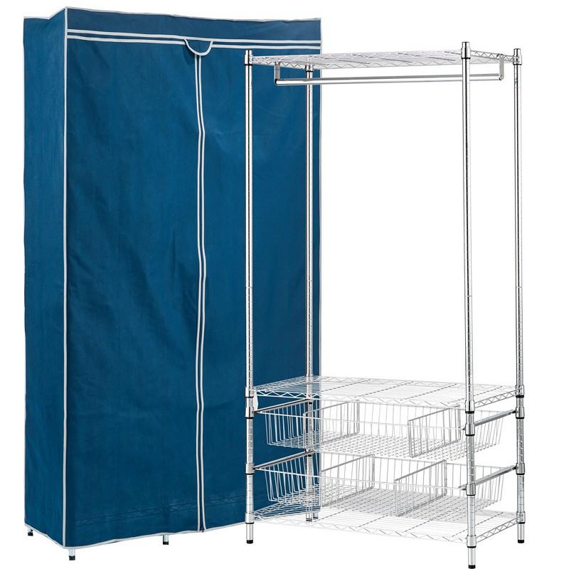 悠室屋 波浪雙抽衣櫥架 90x45x180cm 收納 廠商直送 現貨