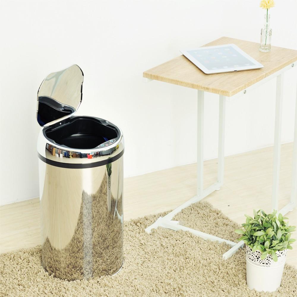 【ikloo】不鏽鋼智能感應式垃圾桶-12L