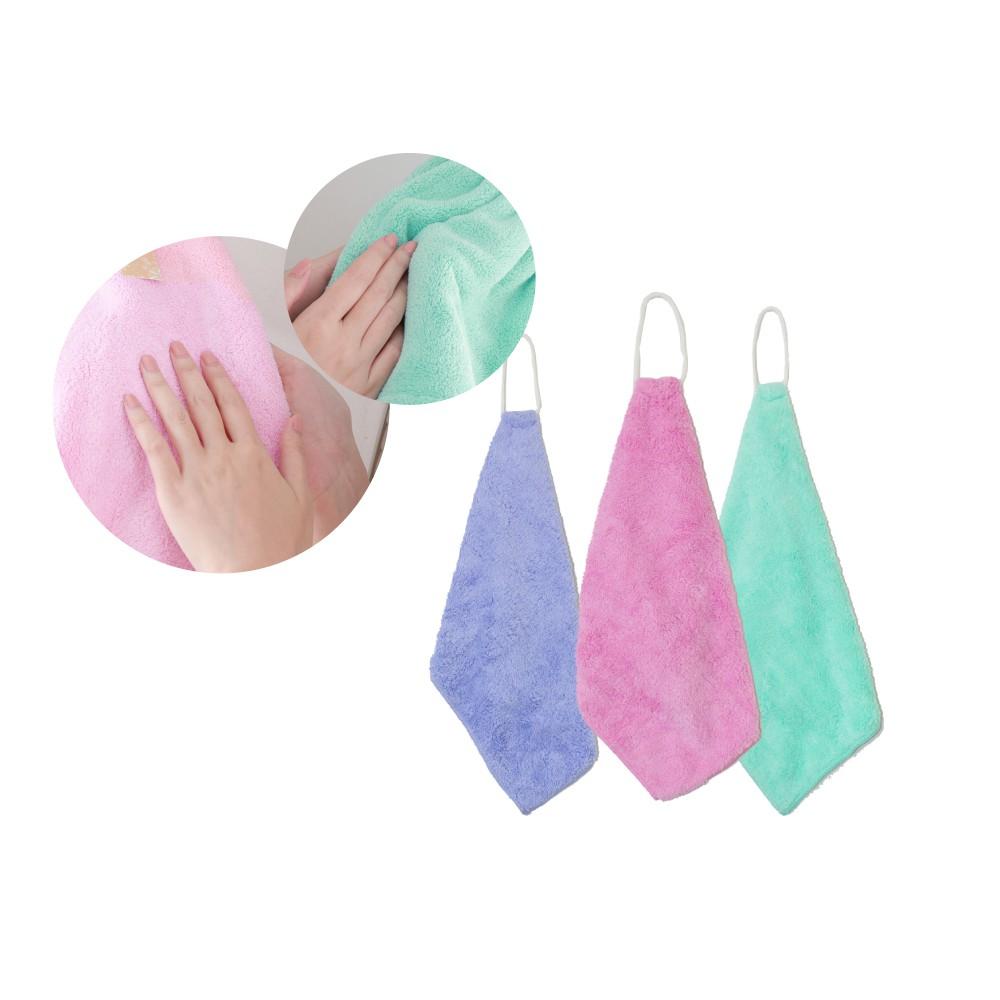 珊瑚絨擦手巾(三入) HOME WORKING