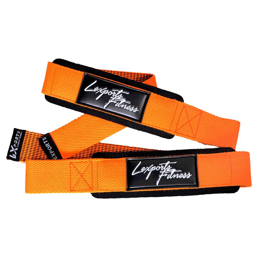 LEXPORTS 勵動風潮 / 專業級重磅健身高拉力帶 - 強力止滑版 / 重訓助握帶 / 健身助力帶 橘色
