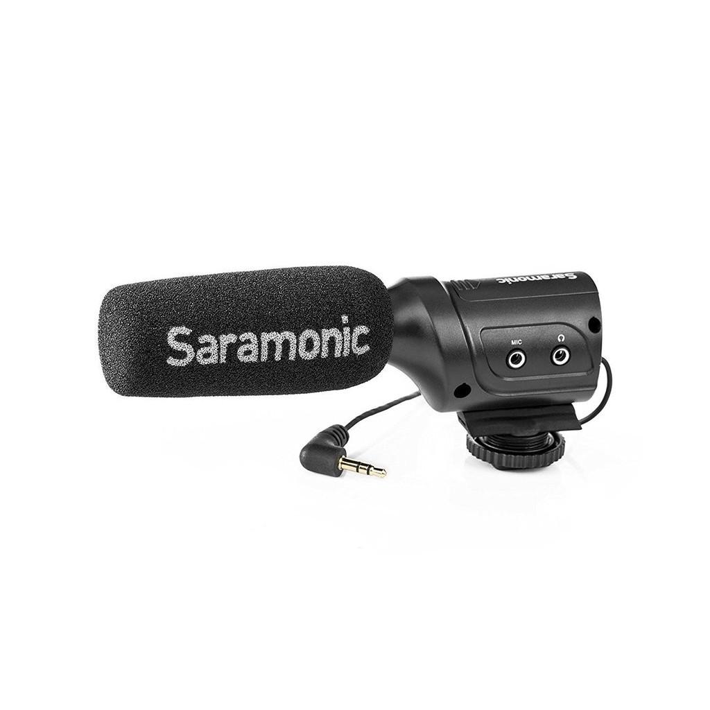 Saramonic 楓笛 SR-M3 指向式電容麥克風 內建監聽 低切降躁 混音器功能 公司貨
