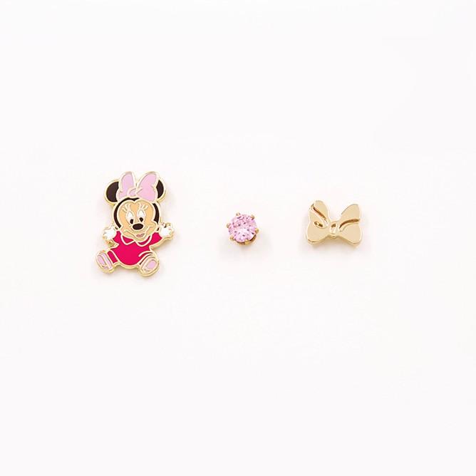 【迪士尼正版授權】可愛寶寶米妮配件組合貼耳