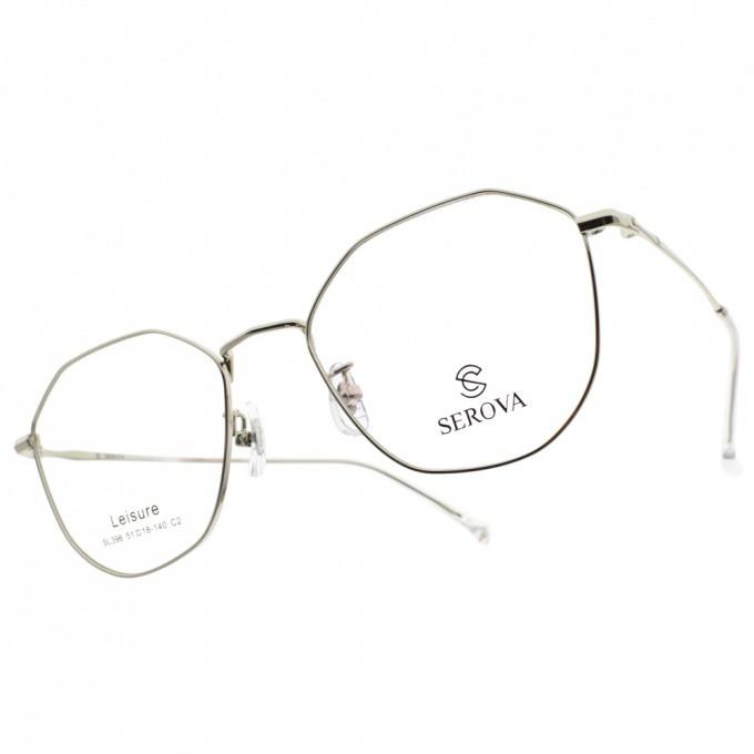 SEROVA 光學眼鏡  SL396 C2 文青造型細框款-金橘眼鏡