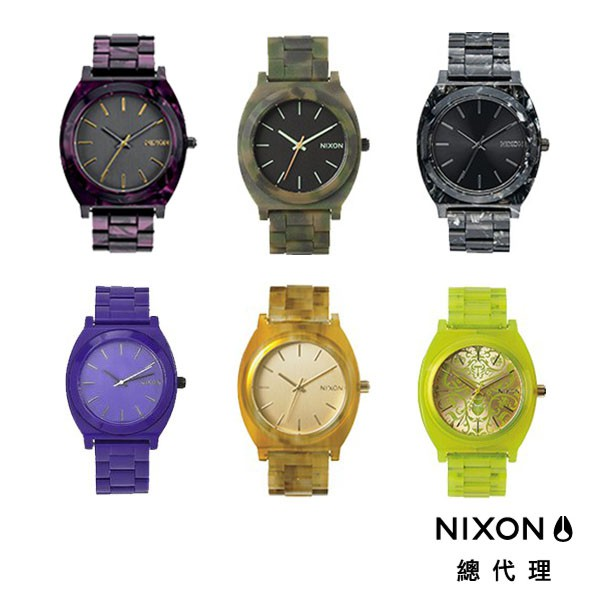 NIXON TIME TELLER 極簡小錶款 大理石紋路 圖騰 文青款 極簡風 禮物首選