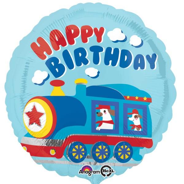 派對城 現貨 【18吋鋁箔氣球(不含氣)-生日小火車】 歐美派對 生日氣球 鋁箔氣球  派對佈置 拍攝道具