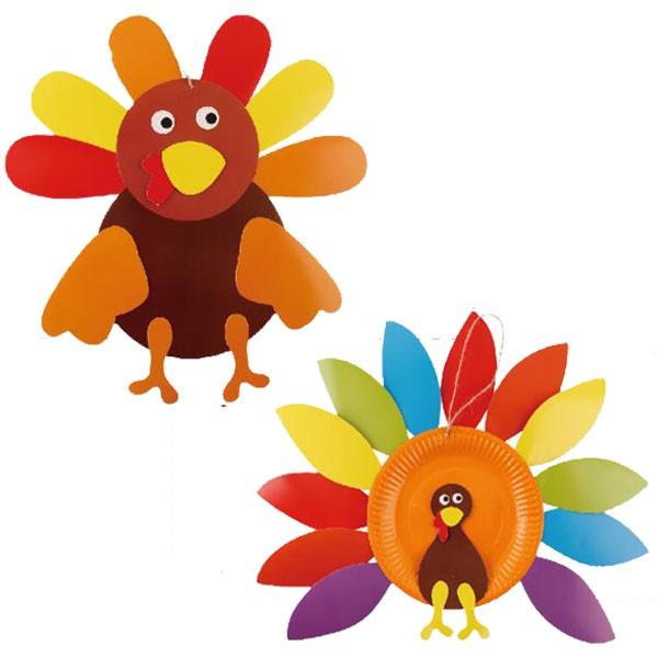 感恩節DIY手作火雞造型紙盤吊飾 掛飾 手作材料包【JC3490】《Jami》