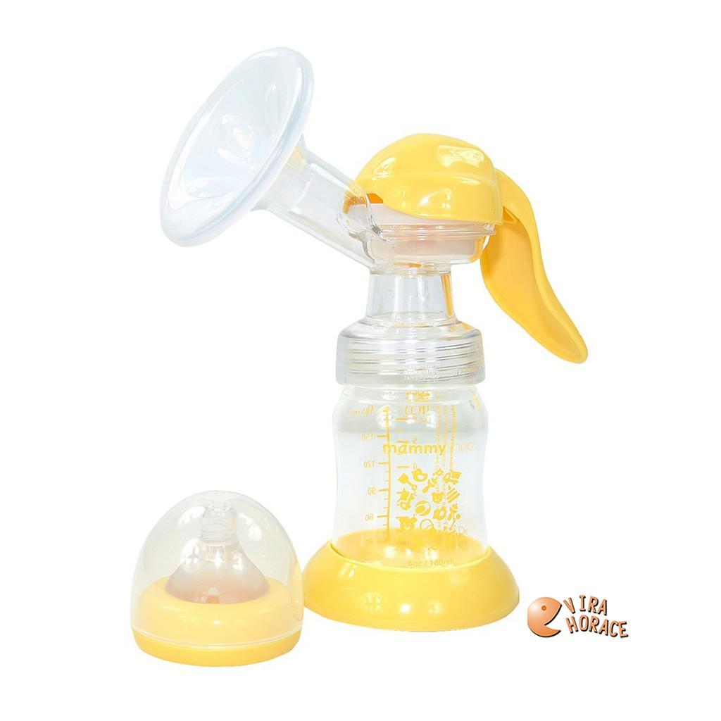 mammyshop媽咪小站母感紓壓手動吸乳器,人體工學設計,吸力強更省力,兩段吸乳方式,溫和剌激泌乳