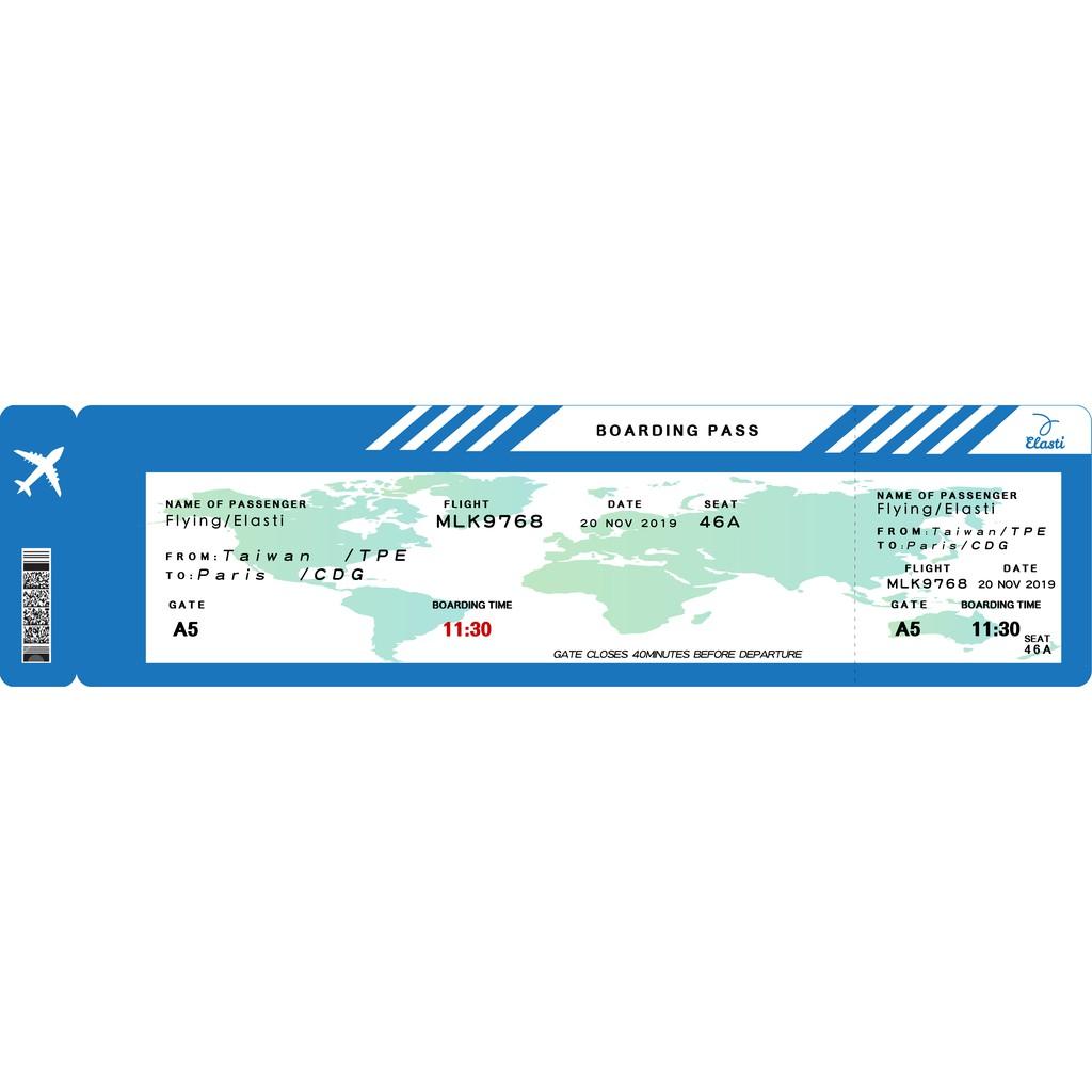 Elasti 時尚運動毛巾(旅行機票)97X25CM