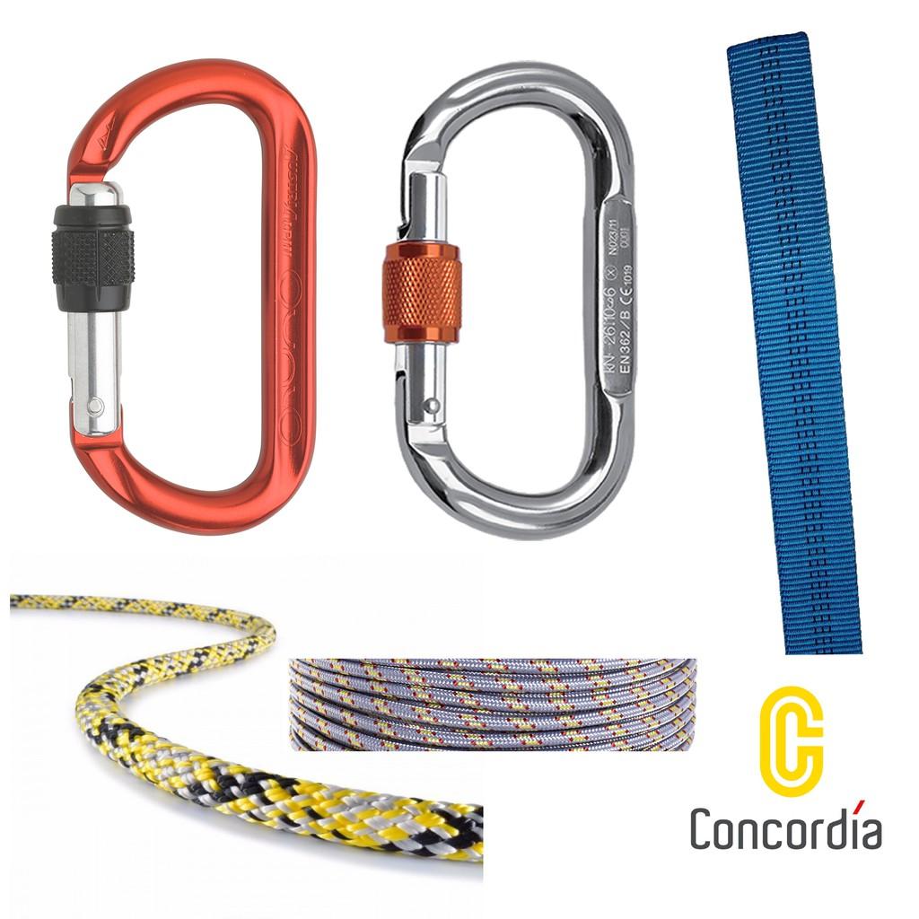 登山訓練初階套餐 五合一(歐製有鎖O環+歐製普魯士繩)
