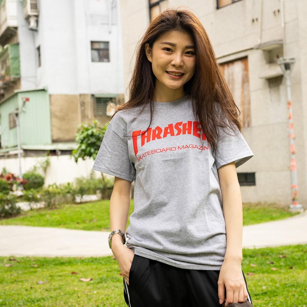 THRASHER 男女 SKATE MAG TEE 短T 灰【110260GREY】【A-KAY0】