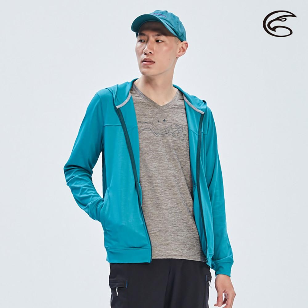 ADISI 男UPF50+壓光防曬連帽外套AJ2011088 (M-2XL)【深湖藍壓光】