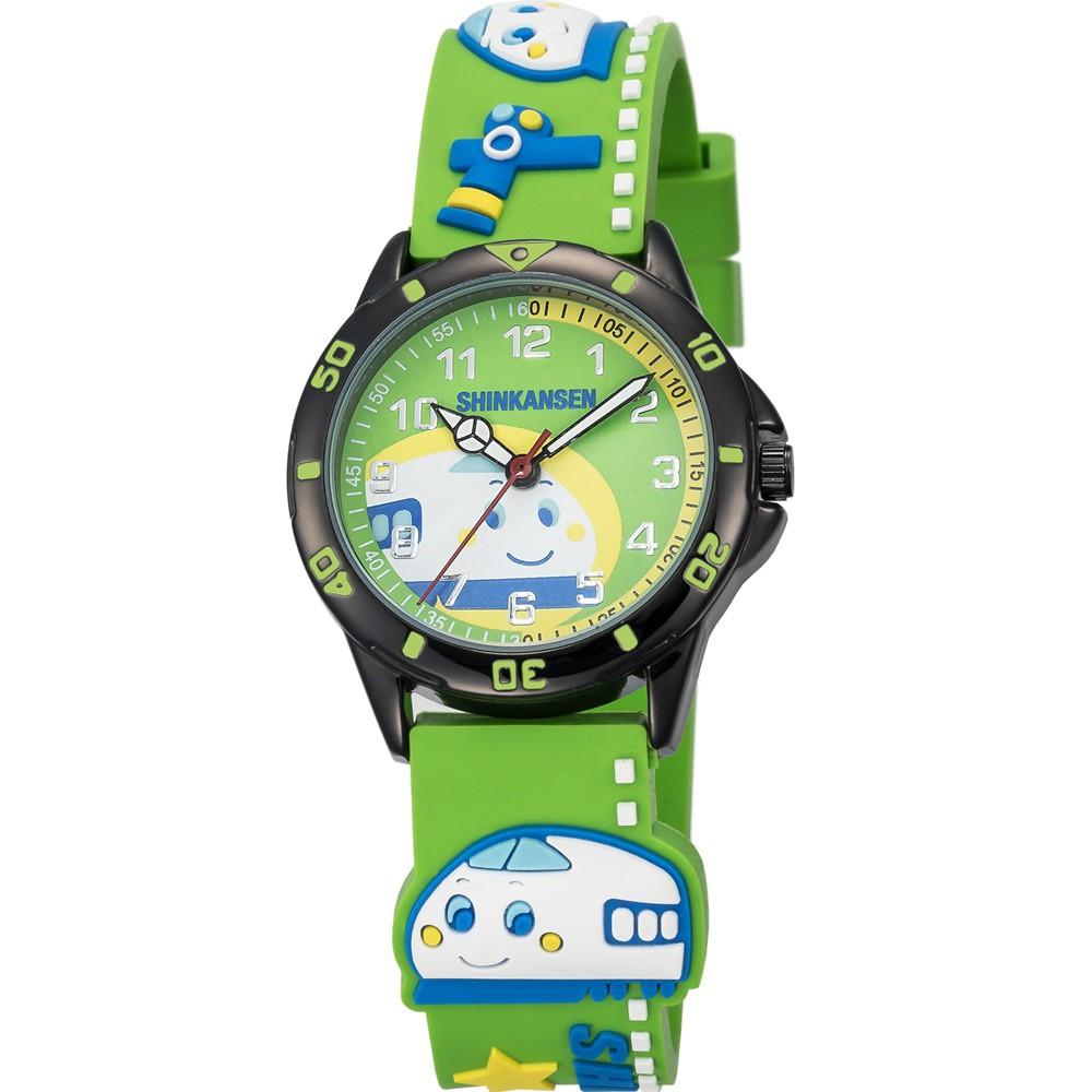 【HELLO KITTY】新幹線百變英雄手錶(綠 KT016LBGG)