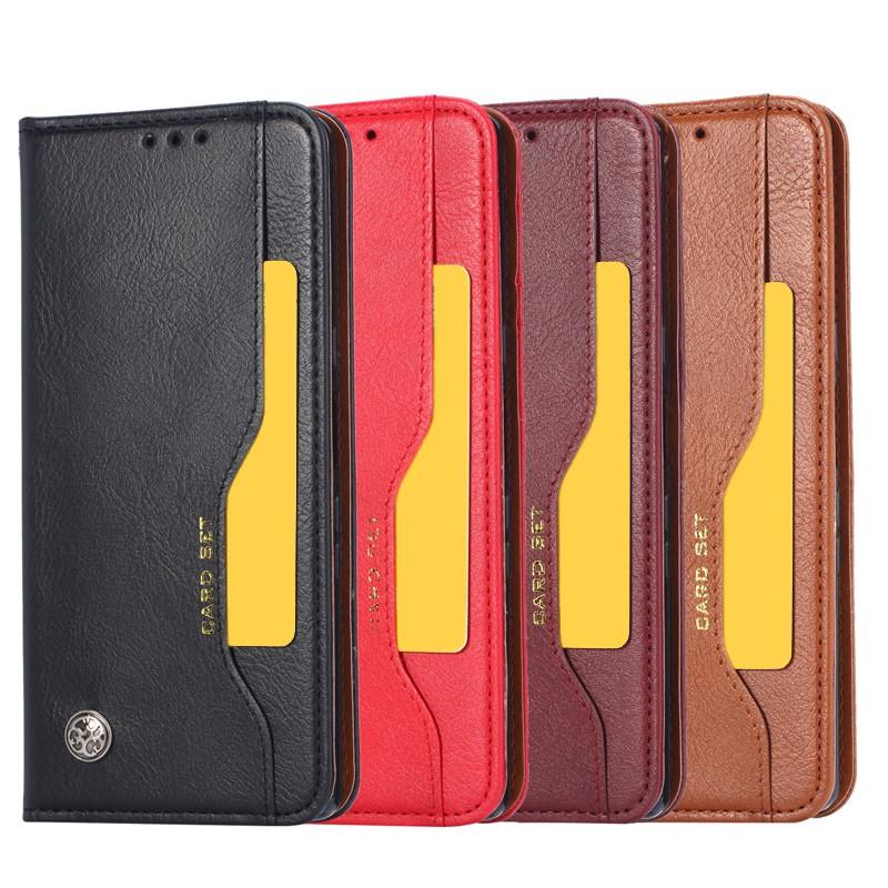 Samsung J2 Pro J4+ J6 J6+ J8 2018 皮革保護套前插卡相片隱藏磁扣手機套皮套