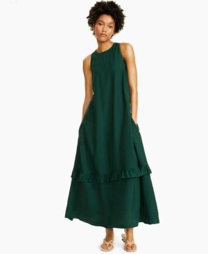 Alfani Ruffled Sleeveless Maxi Dress, Created for Macy's