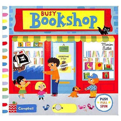 英國 Campbell 人多的書店 硬頁操作拉拉書
