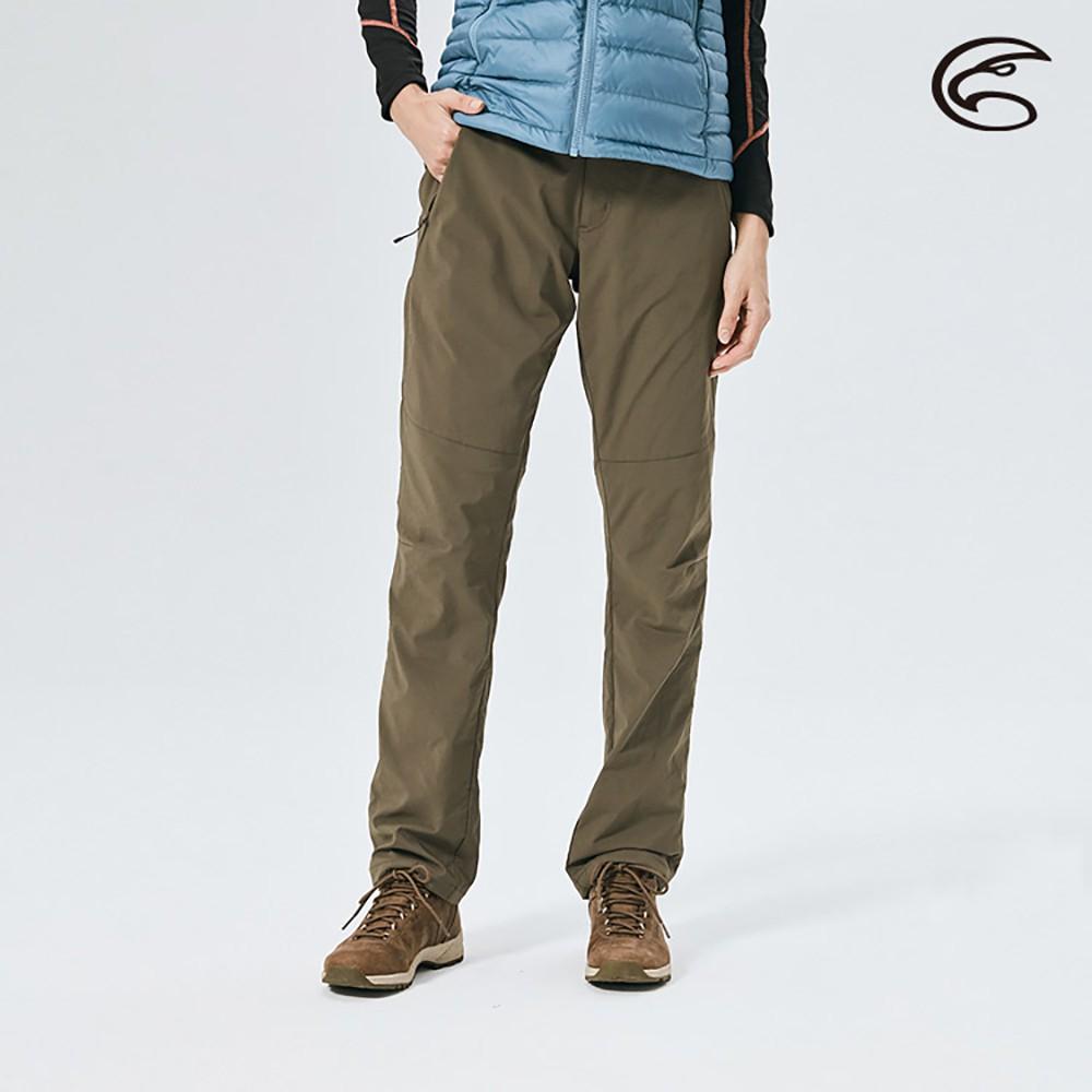 ADISI 女防風超撥水雙層保暖長褲AP2021028【深棕】防潑水 刷毛 天鵝絨 快乾 彈性 戶外機能