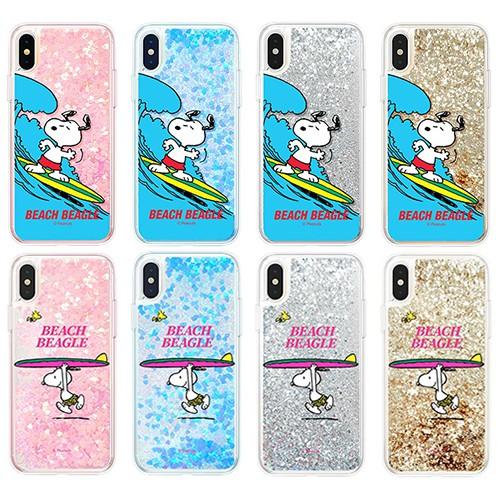 Snoopy 史努比 亮粉流沙 軟邊包覆 手機殼│iPhone X XS MAX XR 11 PRO│z9530