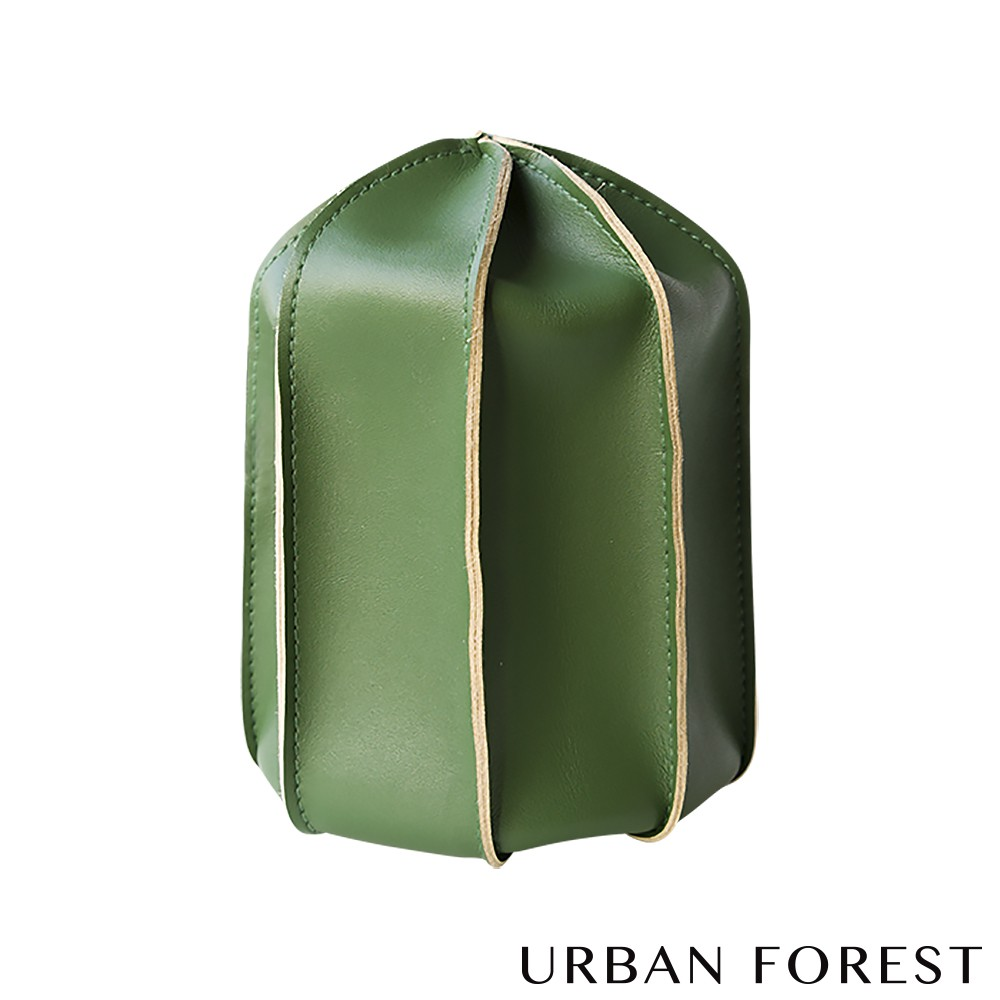 URBAN FOREST都市之森 仙人掌-洗漱包/盥洗包 (M中號-苔癬綠)