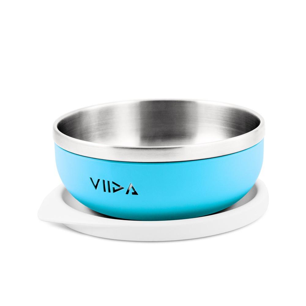 VIIDA — Soufflé 抗菌不鏽鋼餐碗 -寶貝藍